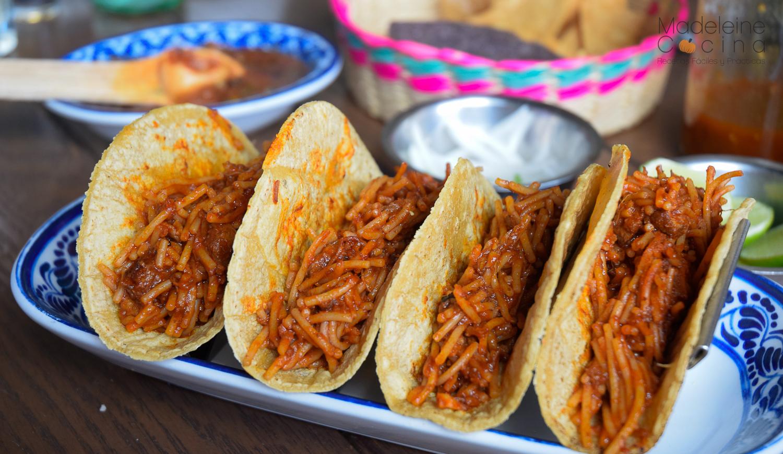 Platillo Tipico - Tacos de Fideo