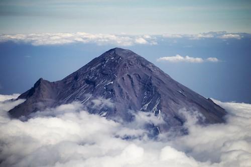 Vista Panoramica del Volcán Popocatépetl