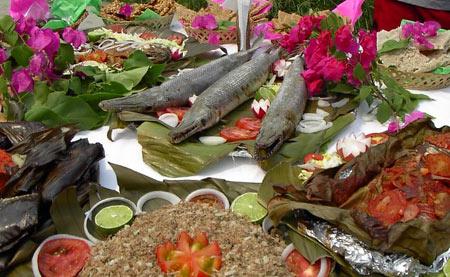 The pejelajarto, typical dish of Tapijulapa