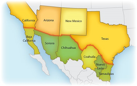 Border Crossings US to Mexico