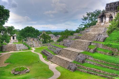 Ruinas Mayas de Palenque en Chiapas