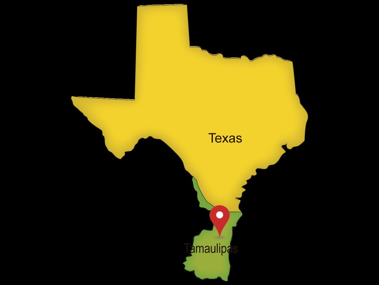 Mapa del Cruce Puente Internacional Laredo I