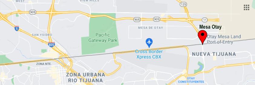 Cruces Fronterizos California-Baja California