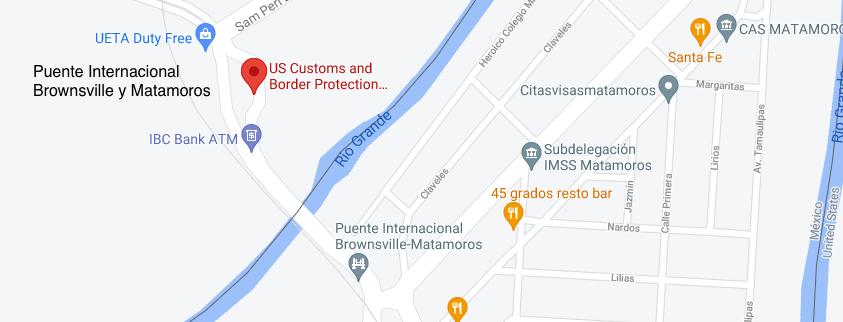 Cruce Fronterizo Brownsville - Puente Internacional Brownsville y Matamoros